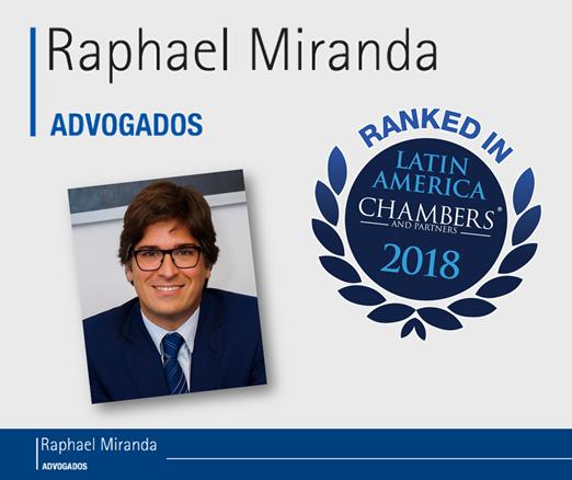 Raphael Miranda Advogados é nomeado mais uma vez pela Chambers & Partners