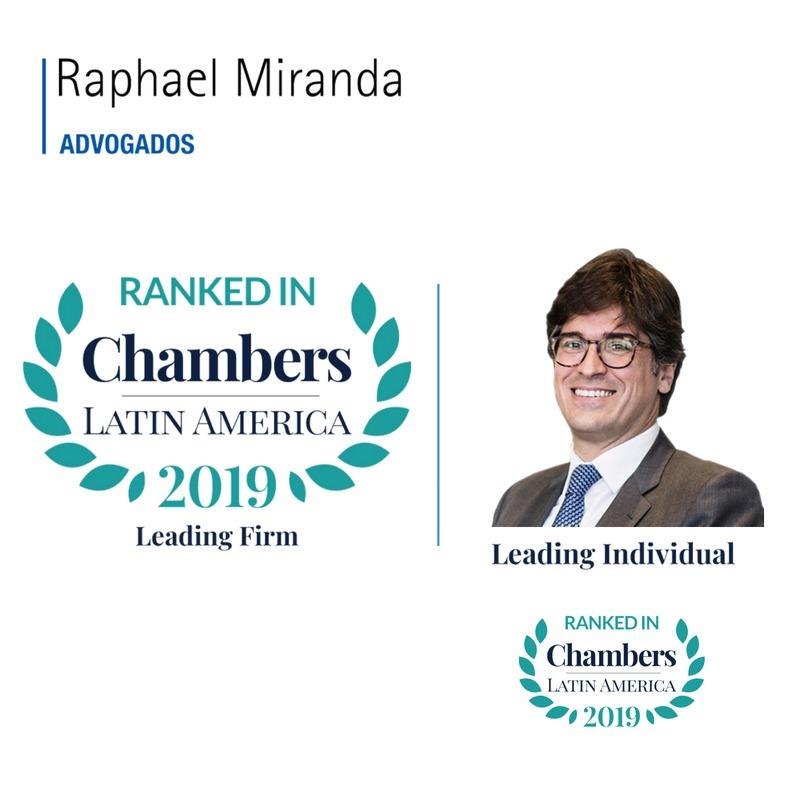 Raphael Miranda é listado mais uma vez no Chambers Latin America 2019